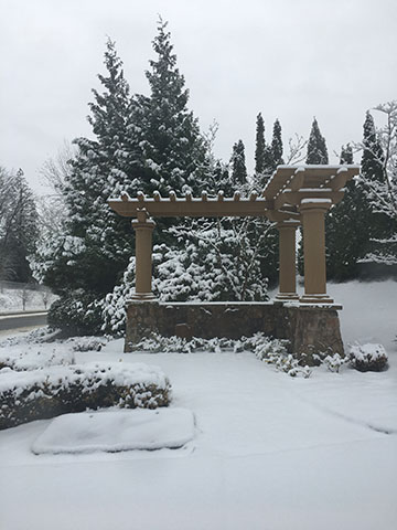 We have had a lot of snow in late February and Early March.