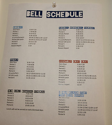 Bell Schedule Change, Coming to Schools Near You in 2019