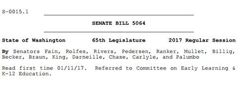 The heading of the bill. Credit: leg.wa.gov