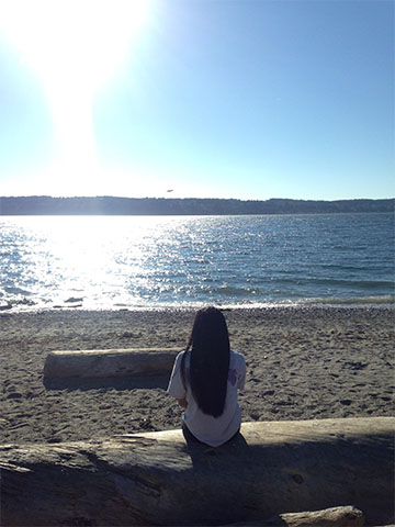 This picture was taken at Mukilteo Beach.