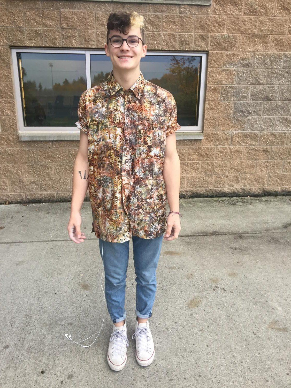 Nolan wearing one of his favorite shirts.