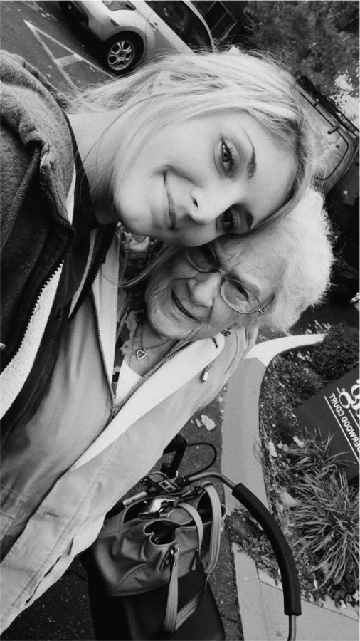 Lilly Christianson with her grandma.