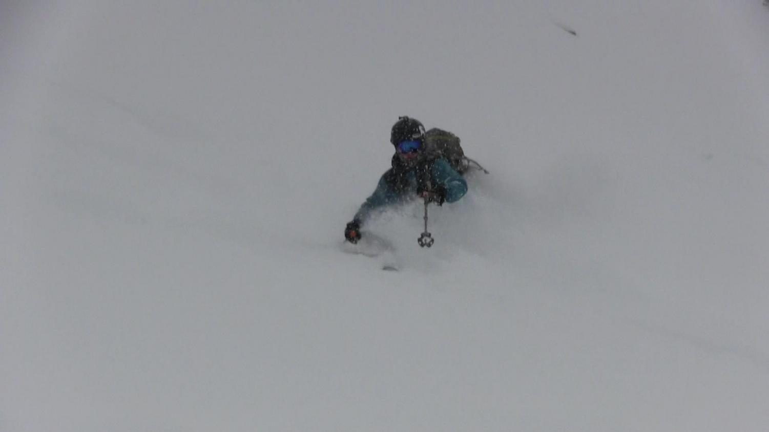 Alex Ropka during one of his first runs of the season.