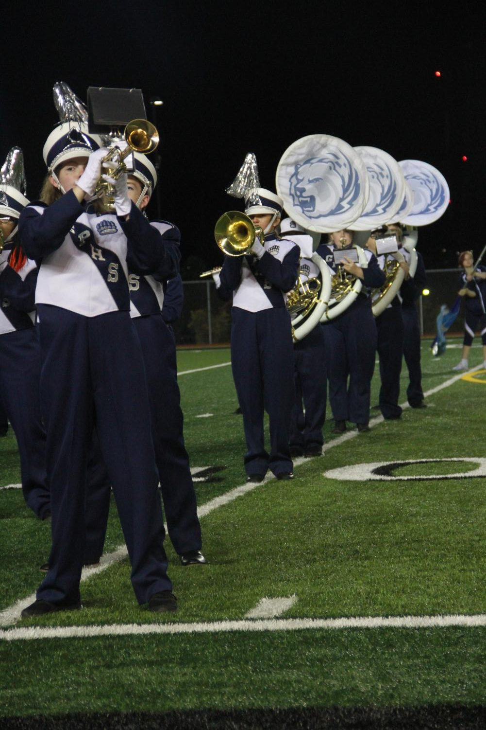 Shelby May while playing in marching band.