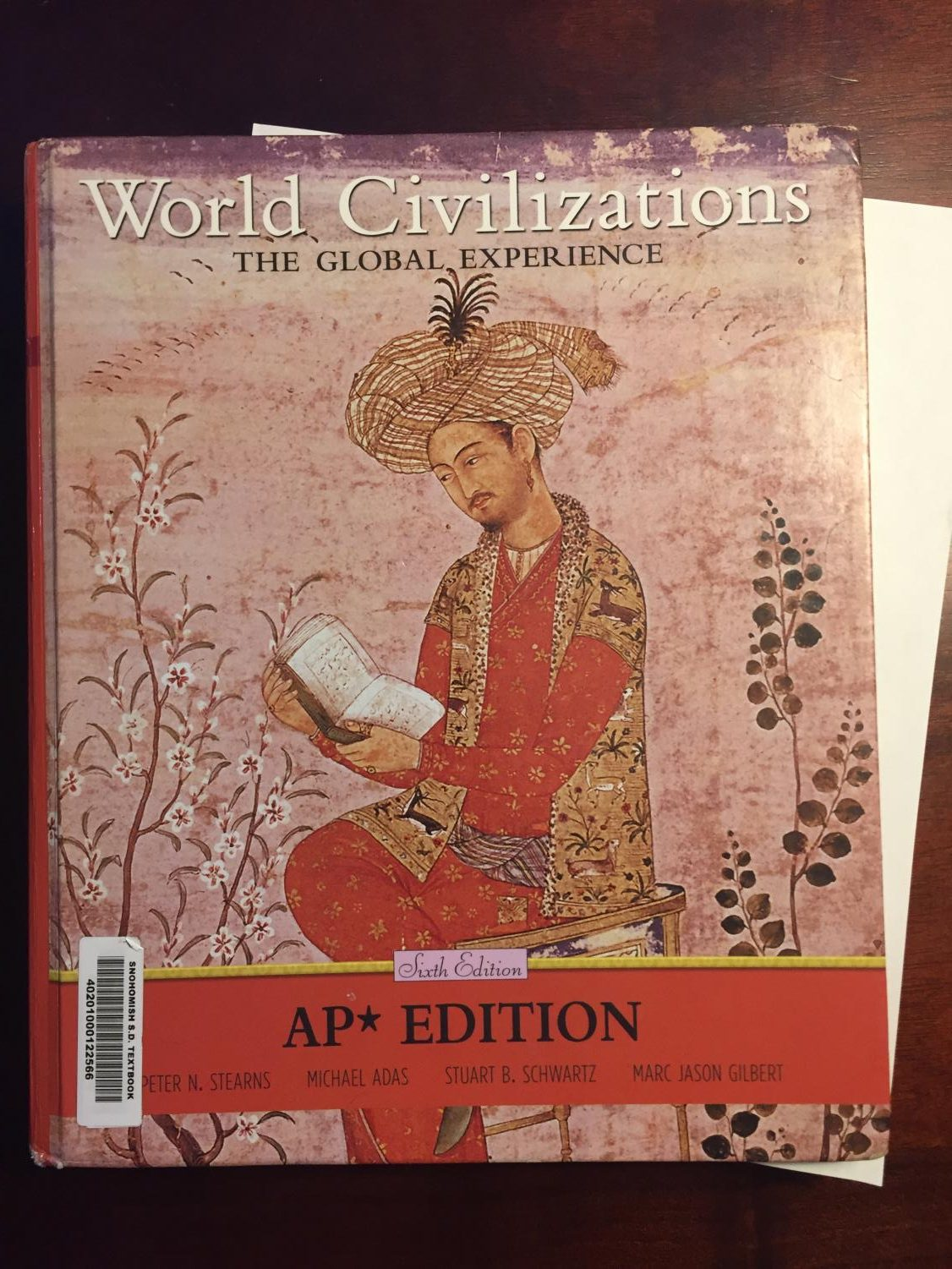 The AP World History text book.