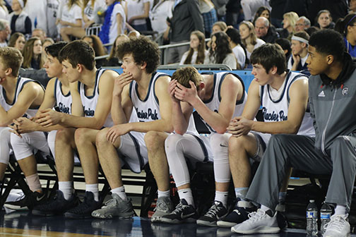 A picture of last years boys varsity basketball team.