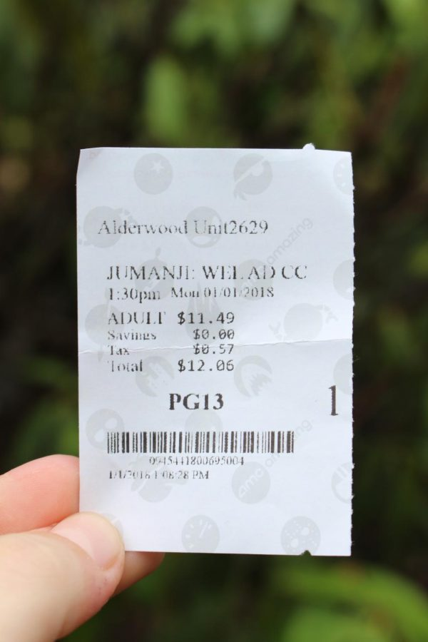 Movie+ticket+for+the+new+Jumanji.