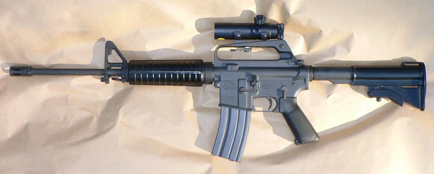 A Colt AR-15, semi-automatic rifle. Credit: wikimedia.com