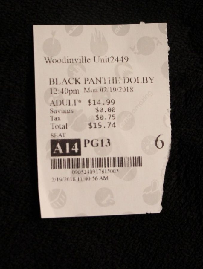 The Black Panther movie ticket.