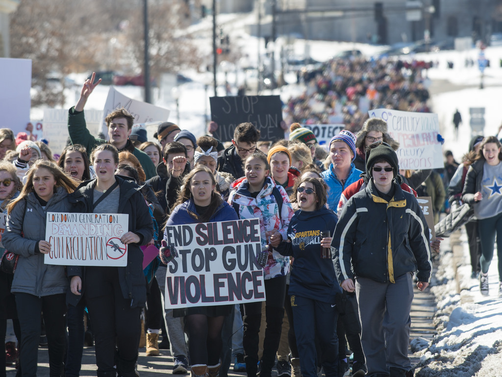 Students march to end gun violence. credit: www.flickr.com