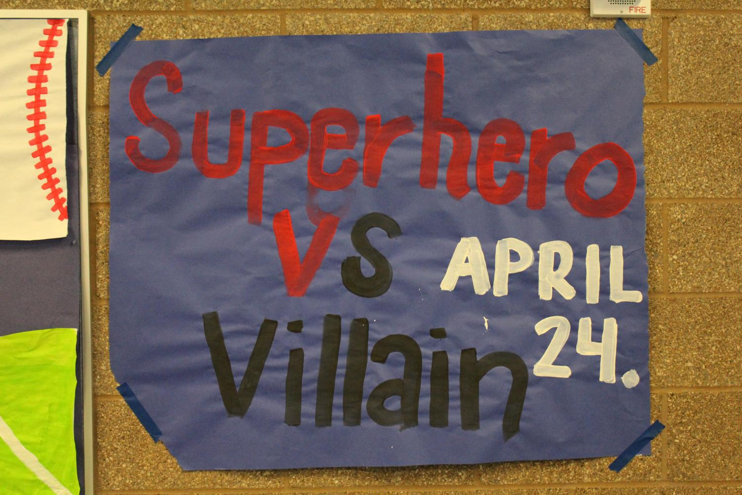 A poster advertising Tuesday's spirit theme