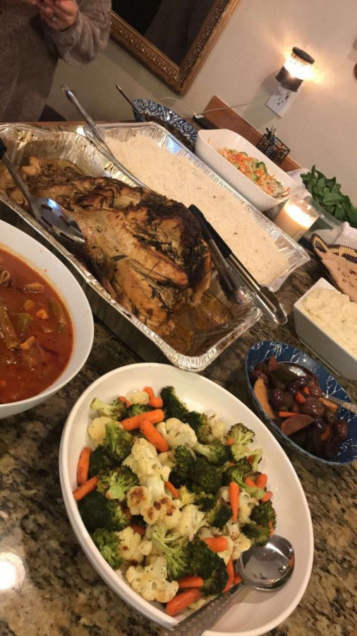 Malak Al-Muhanna's Thanksgiving dinner that she made with her family. Credit: Malak Al-Muhanna
