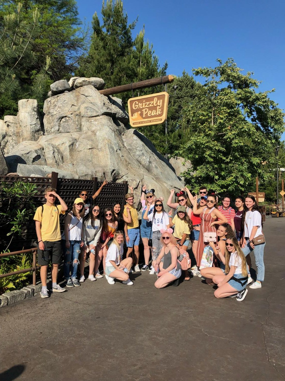Yearbook students take a day at Disneyland during a National Journalism Conference field trip..
