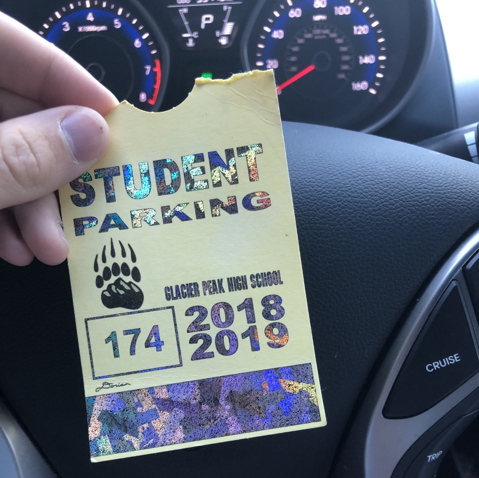 One of the new parking passes.