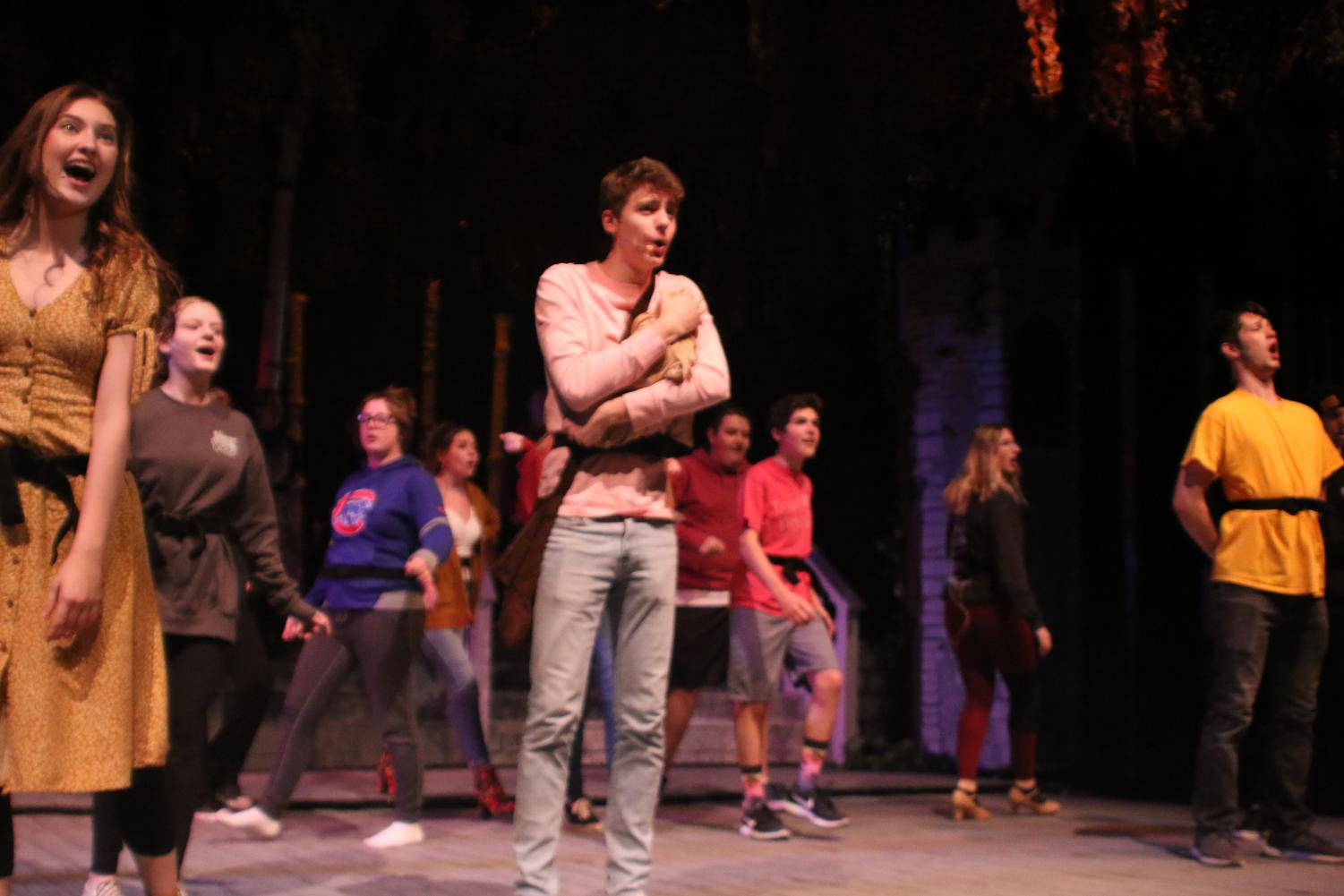 Into the Woods cast running through the musical