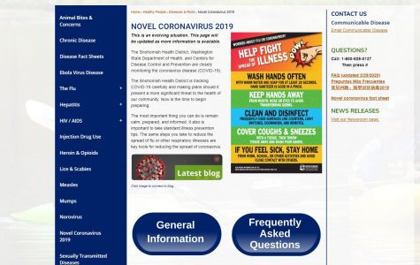 The homepage of the Snohomish Health District's COVID-19 resource center.