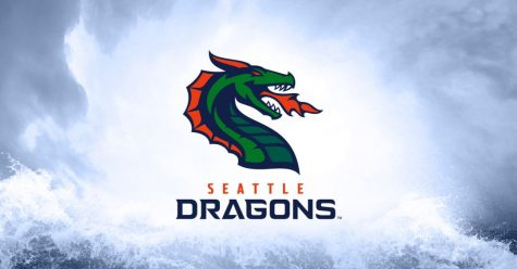 The new Seattle Dragons logo. The team is a part of the new XFL football league.