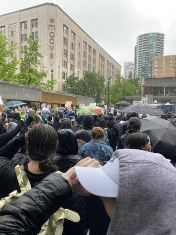 A Black Lives Matter protest held in Seattle.