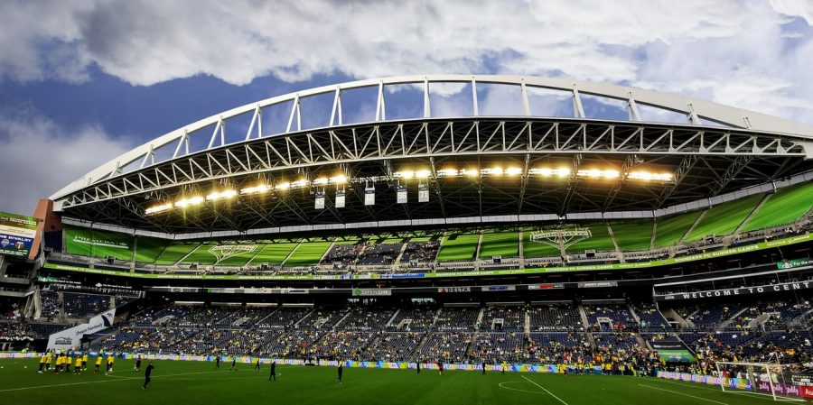 Lumen Field, home of the Seahawks, during a Seattle Sounders game